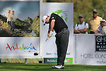 Kenneth Ferrie (ENG) tees off on the 18th tee on his way to shooting 11 under par for a score of 60 during Day 3 Saturday of the Open de Andalucia de Golf at Parador Golf Club Malaga 26th March 2011. (Photo Eoin Clarke/Golffile 2011)