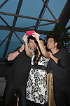 "Young & Restless Michael Muhney and Greg Rikaart take photos with fan at Meet & Greet wine tasting event a part of the Soap Opera Festivals Weekend - ""All About The Drama"" on March 24, 2012 at Bally's Atlantic City, Atlantic City, New Jersey.  (Photo by Sue Coflin/Max Photos)"