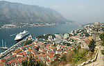 View of Kotor from walks to Church of our Lady of Remedy