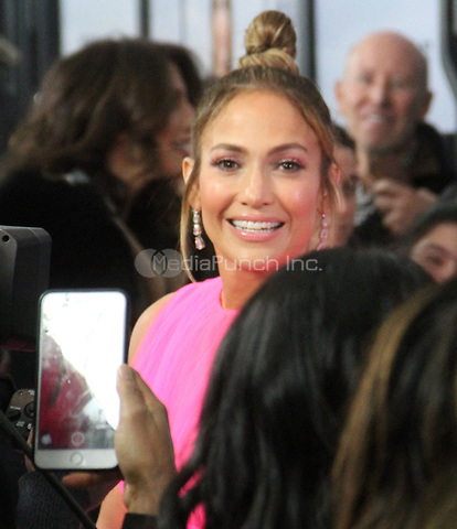 NEW YORK, NY - December 12: Jennifer Lopez seen at the World Premiere of Second Act at Union Square Stadium 14 in New York City. December 12, 2018 Credit: RW/MediaPunch
