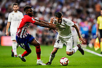 Thomas Lemar of Atletico de Madrid (L) in action against Dani Ceballos of Real Madrid (R) during their La Liga  2018-19 match between Real Madrid CF and Atletico de Madrid at Santiago Bernabeu on September 29 2018 in Madrid, Spain. Photo by Diego Souto / Power Sport Images