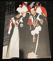 BNPS.co.uk (01202 558833)<br /> Pic: MooreAllen&amp;Innocent/BNPS<br /> <br /> The Queen and Prince Philip 1991 card.<br /> <br /> A comprehensive collection of Christmas cards sent by the Queen and Prince Philip over a 30 year period have emerged to highlight the fascinating changes of the Royal Family.<br /> <br /> The 31 greetings cards carry various images of the Royal couple on the front along with different members of their family.<br /> <br /> They were sent every year without fail from 1971 through to 2001 to the unnamed recipient, who was clearly an acquaintance of the Queen.<br /> <br /> The first card features a formal photograph of the Queen, the Duke of Edinburgh, a 23-year-old Prince Charles, Princess Anne, Prince Andrew, aged 11 and seven-year-old Prince Edward.<br /> <br /> They are being sold in Cirencester on Friday.