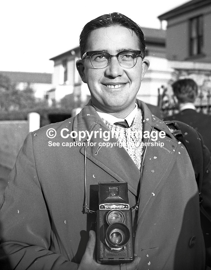 Robert Ferris, formerly, photographer, Londonderry Sentinel, N Ireland, June, 1967, 196706000056<br />
