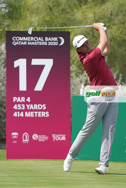 Sami Valimaki (FIN) during the third round of the Commercial Bank Qatar Masters 2020, Education City Golf Club , Doha, Qatar. 07/03/2020<br /> Picture: Golffile | Phil Inglis<br /> <br /> <br /> All photo usage must carry mandatory copyright credit (© Golffile | Phil Inglis)