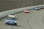 June 14 2009:  Jimmie Johnson leads the field during the LifeLock 400 at Michigan International Speedway in Brooklyn, MIchigan.