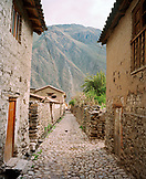 PERU, Urubamba, South America, Latin America, a street and houses in Urubamba.