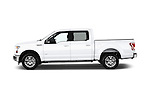 Car Driver side profile view of a 2015 Ford F-150 XLT SuperCrew 145-in Door Pickup Side View