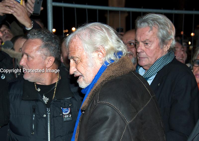 November 17 2017, PARIS FRANCE<br /> inauguration of the Big Wheel at Place de la Concorde Paris, in the presence of the Actors Alain Delon, Jean Paul Belmondo.