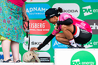 Picture by Alex Whitehead/SWpix.com - 15/06/2018 - Cycling - 2018 OVO Energy Women's Tour - Stage 3, Atherstone to Royal Leamington Spa - Coryn Rivera of Sunweb.