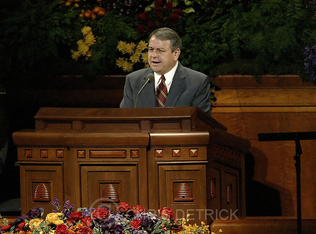 Salt Lake City, Utah --10/1/2005--..Elder Benjamin DeHoyos delivers his speech during the LDS Church General Conference held at the Conference Center. ...Chris Detrick/The Salt Lake Tribune.File #816G0312