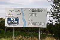 Here Rions, Premiere Cote de Bordeaux. Entre deux Mers. Bordeaux, France