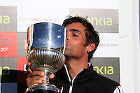 Lee Slattery (ENG) wins the tournament at the end of  Sunday's Final Round of the Bankia Madrid Masters at El Encin Golf Hotel, Madrid, Spain, 9th October 2011 (Photo Eoin Clarke/www.golffile.ie)
