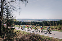 today's breakaway group rolling along the beautiful landscapes<br /> <br /> 82nd Fl&egrave;che Wallonne 2018 (1.UWT)<br /> 1 Day Race: Seraing - Huy (198km)