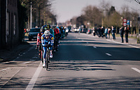 'locomotive' Iljo Keisse (BEL/QuickStep Floors) driving the peloton once again<br /> <br /> Omloop Het Nieuwsblad 2018<br /> Gent &rsaquo; Meerbeke: 196km (BELGIUM)