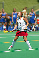 30 August 2005: Ali Fox during Stanford's 5-1 loss to Delaware at the Varsity Turf Field in Stanford, CA.