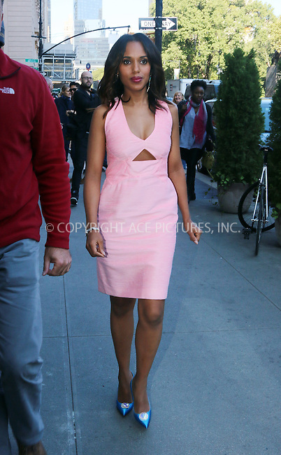 ACEPIXS.COM<br /> <br /> September 23 2014, New York City<br /> <br /> Actress Kerry Washington arrives at a Midtown hotel on September 23 2014 in New York City<br /> <br /> By Line: Zelig Shaul/ACE Pictures<br /> <br /> ACE Pictures, Inc.<br /> www.acepixs.com<br /> Email: info@acepixs.com<br /> Tel: 646 769 0430
