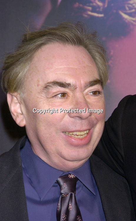 "Andrew Lloyd Webber..at The New York Premiere of ""Phantom of the Opera"" on ..December 12, 2004 at the Ziegfeld Theatre. ..Photo by Robin Platzer, Twin Images"