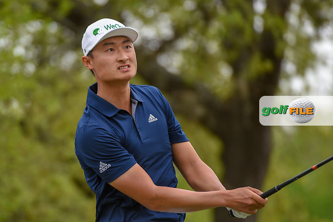 HaoTong Li (CHN) watches his tee shot on 12 during day 2 of the WGC Dell Match Play, at the Austin Country Club, Austin, Texas, USA. 3/28/2019.<br /> Picture: Golffile   Ken Murray<br /> <br /> <br /> All photo usage must carry mandatory copyright credit (© Golffile   Ken Murray)