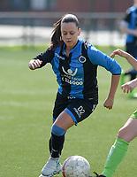 Zulte C - Club Brugge B : Dames Club Brugge B kampioen in 1ste provinciale met Kay Cuvelier<br /> Foto David Catry | Sportpix.be