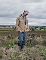 Farmer Dan Hobbs on his farm near Avondale, Colorado, Tuesday, May 17, 2016. Hobbs, who has small scale organic farm of 30 acres, irrigates with senior water rights and water diverted through the Bessemer Ditch from the Arkansas River.<br /> <br /> Photo by Matt Nager