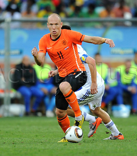 28 06 2010  2010 World Cup 2010 Durban.  28 06 2010 Holland versus Slovakia in the last 16 group.  Arjen Robben Holland