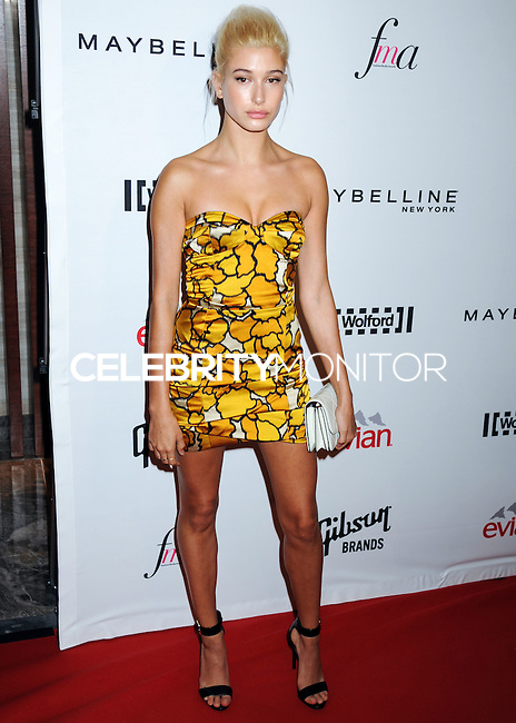 NEW YORK CITY, NY, USA - SEPTEMBER 05: Hailey Baldwin arrives at the 2nd Annual Fashion Media Awards held at the Park Hyatt on September 5, 2014 in New York City, New York, United States. (Photo by Celebrity Monitor)