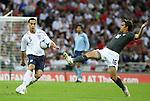 28 May 2008: Rio Ferdinand (ENG) (5) sends the ball past Josh Wolff (USA) (16). The England Men's National Team defeated the United States Men's National Team 2-0 at Wembley Stadium in London, England in an international friendly soccer match.