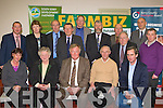 The Farmbiz committee at the Farmbiz awards ceremony in the South Kerry Development building, Killorglin on Saturday evening front row l-r: Catherine Evans, Joan Collins, John O'Donoghue, Donal Counihan, Jerry Kennelly. Back row: Emmett Spring, Noreen O'Riordan, Tom Shanahan, Michael Murphy, George Kelly, Johnny O'Connor, Muiris O'Donoghue, Patsy Cronin, Tomas Hayes and Joe McCrohan