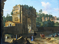 Rome: The Arch of Constantine by Herman van Swanevelt (1600-55). Dulwich Picture Gallery, 1981.
