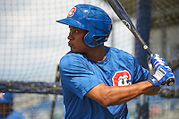 Chattanooga Lookouts shortstop Jorge Polanco (11) during practice before a game against the Jacksonville Suns on April 30, 2015 at AT&T Field in Chattanooga, Tennessee.  Jacksonville defeated Chattanooga 6-4.  (Mike Janes/Four Seam Images)