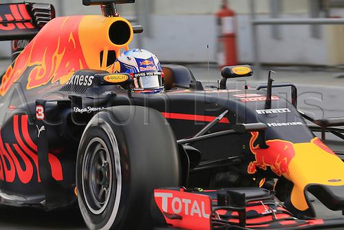 22.02.2016. Circuit de Catalunya, Barcelona, Spain. Spring F1 testing and new car unvieling for 2016-17 season.  Red Bull Racing RB12 - Daniel Ricciardo