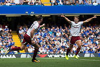 Burnley's Stephen Ward wheels away to celebrate scoring his sides second goal <br /> <br /> Photographer Craig Mercer/CameraSport<br /> <br /> The Premier League - Chelsea v Burnley - Saturday August 12th 2017 - Stamford Bridge - London<br /> <br /> World Copyright &copy; 2017 CameraSport. All rights reserved. 43 Linden Ave. Countesthorpe. Leicester. England. LE8 5PG - Tel: +44 (0) 116 277 4147 - admin@camerasport.com - www.camerasport.com