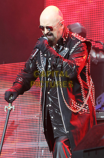DERBY, ENGLAND - Judas Priest perform at Download Festival - Day 1 - at Donington Park, on 12th June 2015 in Derby, England<br /> CAP/ROS<br /> &copy;Steve Ross/Capital Pictures