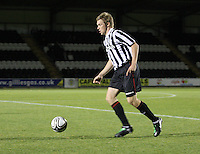 Jordan Holt in the St Mirren v Dunfermline Athletic Clydesdale Bank Scottish Premier League U20 match played at St Mirren Park, Paisley on 2.10.12.