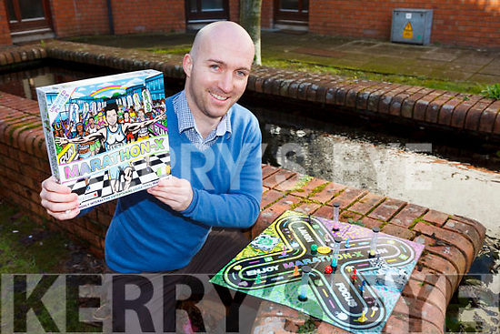 David Lyons from Listowel is launching his very first boardgame Marathon-X, this Saturday, in Listowel Garden Centre.
