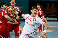 17.01.2013 World Championshio Handball. Match between Spain vs Hungray at the stadium La Caja Magica. The picture show  Julen Aguinagalde Akizu (Pivot of Spain)