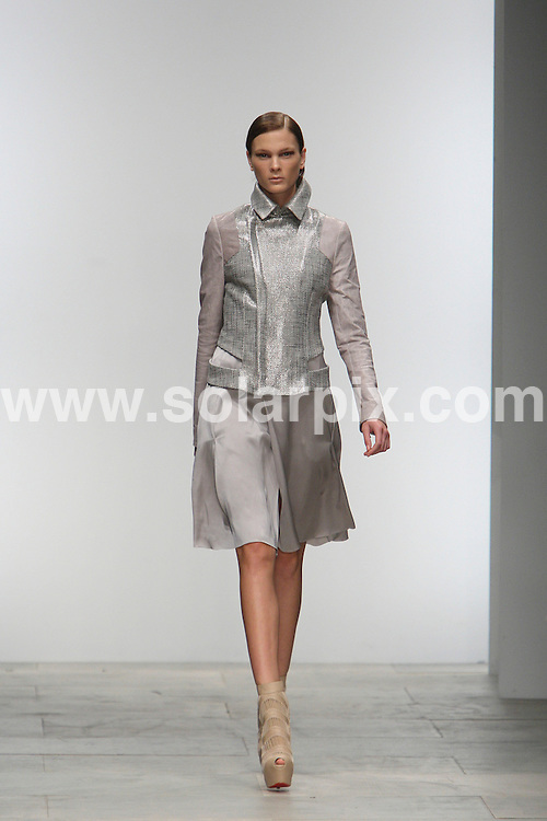 **ALL ROUND PICTURES FROM SOLARPIX.COM**                                             **WORLDWIDE SYNDICATION RIGHTS**                                                                                  Todd Lynn Summer Season runway 2012 during London Fashion Week at Somerset House in London on 19 September 2011.                                                                        This pic:    Todd Lynn runway                                                                                          JOB REF:    13995    MLW       DATE:   20.09.11                                                         **MUST CREDIT SOLARPIX.COM OR DOUBLE FEE WILL BE CHARGED**                                                                      **MUST AGREE FEE BEFORE ONLINE USAGE**                               **CALL US ON: +34 952 811 768 or LOW RATE FROM UK 0844 617 7637**