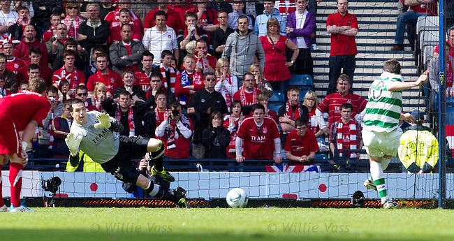 Anthony Stokes penalty saved by Jamie Langfield