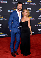 Chris Hemsworth &amp; Elsa Pataky at the premiere for &quot;Thor: Ragnarok&quot; at the El Capitan Theatre, Los Angeles, USA 10 October  2017<br /> Picture: Paul Smith/Featureflash/SilverHub 0208 004 5359 sales@silverhubmedia.com