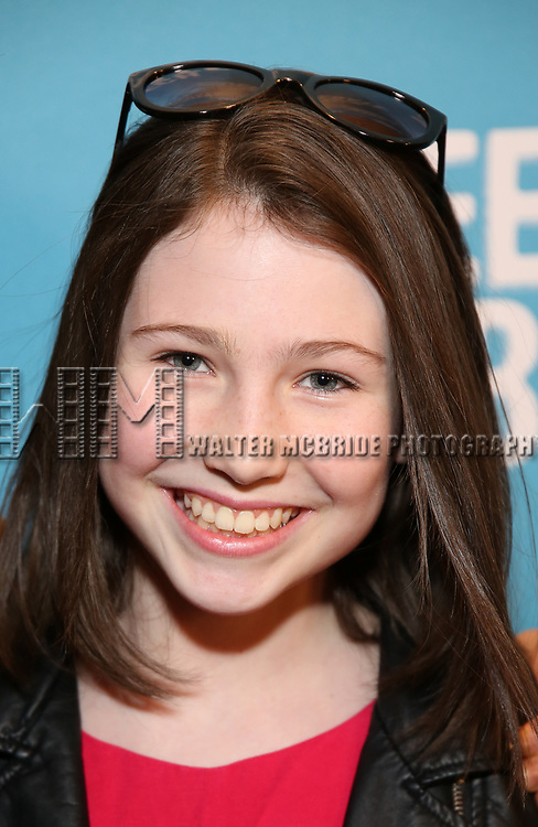 Carly Grendall attends Broadway Red Carpet Premiere of 'Speech & Debate'  at the American Airlines Theatre on April 2, 2017 in New York City.