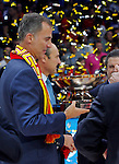 king Felipe VI of Spain after European championship basketball final match between Spain and Lithuania on September 20, 2015 in Lille, France  (credit image & photo: Pedja Milosavljevic / STARSPORT)