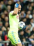 SSC Napoli's Pepe Reina during Champions League 2016/2017 Round of 16 1st leg match. February 15,2017. (ALTERPHOTOS/Acero)