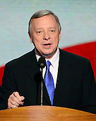 United States Senator Dick Durbin (Democrat of Illinois) introduces U.S. President Barack Obama at the 2012 Democratic National Convention on Thursday, September 6, 2012.  .Credit: Ron Sachs / CNP.(RESTRICTION: NO New York or New Jersey Newspapers or newspapers within a 75 mile radius of New York City)