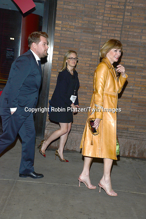 James Cordon and Anna Wintour attends the Glamour Women of the Year Awards on November 10, 2014 at Carnegie Hall in New York City. <br /> <br /> photo by Robin Platzer/Twin Images<br />  <br /> phone number 212-935-0770