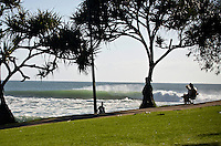 Burleigh Heads line up, Gold Coast, Queensland, Australia.  Photo: Joli