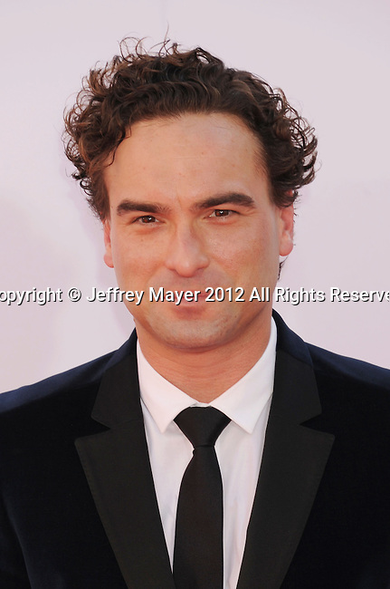 LOS ANGELES, CA - SEPTEMBER 23: Johnny Galecki arrives at the 64th Primetime Emmy Awards at Nokia Theatre L.A. Live on September 23, 2012 in Los Angeles, California.