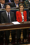 Queen Letizia of Spain and senate President Pio Garcia-Escudero during the Rare Diseases World Day Event organized by FEDER in Madrid, Spain. March 05, 2015. (ALTERPHOTOS/Victor Blanco)