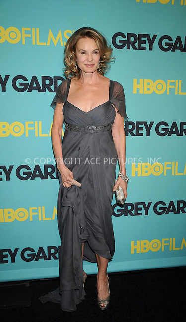 WWW.ACEPIXS.COM . . . . . ....April 14 2009, New York City....Actress Jessica Lange at the HBO Films premiere of 'Grey Gardens' at The Ziegfeld Theater on April 14, 2009 in New York City.....Please byline: KRISTIN CALLAHAN - ACEPIXS.COM.. . . . . . ..Ace Pictures, Inc:  ..tel: (212) 243 8787 or (646) 769 0430..e-mail: info@acepixs.com..web: http://www.acepixs.com