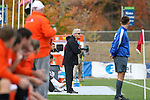12 November 2008: Boston College head coach Ed Kelly. Boston College defeated Clemson University 1-0 in the second sudden-victory overtime period at Koka Booth Stadium at WakeMed Soccer Park in Cary, NC in a men's ACC tournament quarterfinal game.