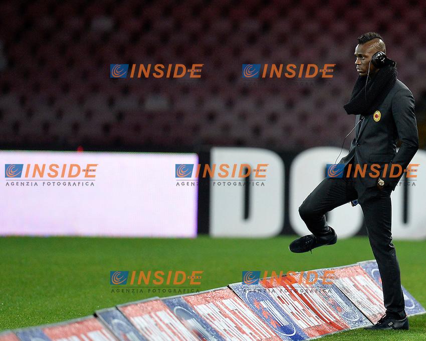 Mario Balotelli Milan <br /> Napoli 08-02-2014 Stadio San Paolo - Football Calcio Serie A 2013/2014 Napoli - Milan Foto Andrea Staccioli / Insidefoto